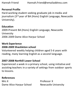 My CV June 2011